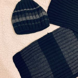 Winter men's hat and scarf set